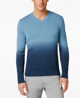Vince Camuto Men's Ombré V-Neck Sweater