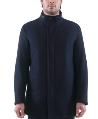 Sanyo Bond Stand-Collar Wool Raincoat