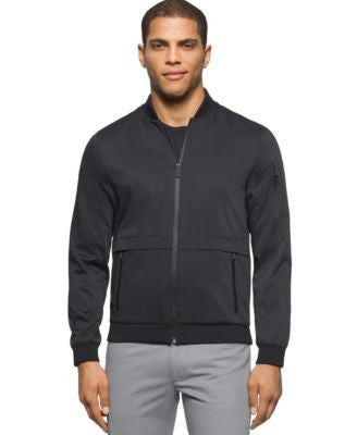 Calvin Klein Men's Textured Baseball Jacket