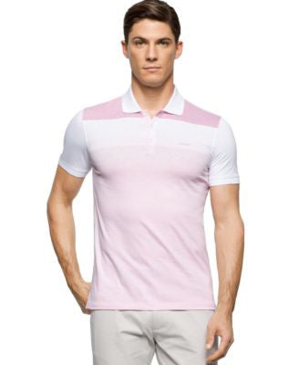 Calvin Klein Men's Colorblocked Liquid Cotton Polo Shirt