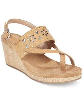 Style & Co. Jazzmine Embellished Slingback Wedge Sandals, Only at Vogily