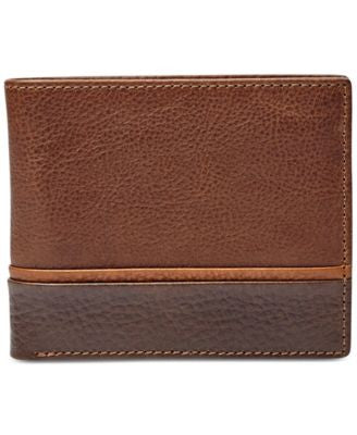 Fossil Men's Ian Leather Bifold with Flip ID Wallet
