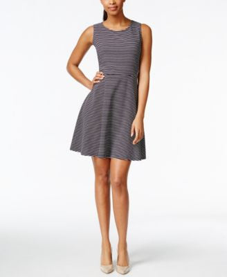 Charter Club Petite Sleeveless Fit & Flare Dress, Only at Vogily