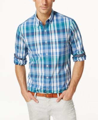 Club Room Plaid Long-Sleeve Shirt, Only at Vogily