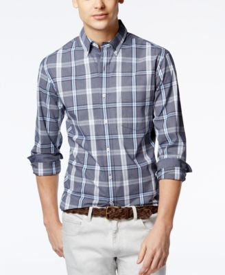 Club Room Men's Plaid Long-Sleeve Shirt