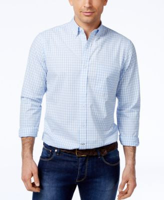 Club Room Men's Gingham Slim Fit Shirt