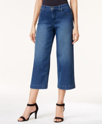 Style & Co. Angel Wash Culotte Jeans, Only at Vogily