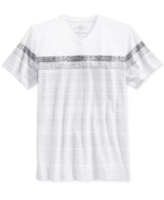 American Rag Men's Sand City Stripe V-Neck T-Shirt, Only at Vogily