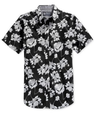 American Rag Men's Short Sleeve Floral Print Shirt, Only at Vogily