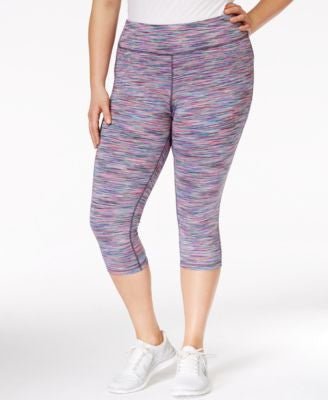 Ideology Plus Size Space-Dyed Cropped Leggings, Only at Vogily