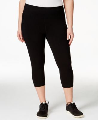 Ideology Plus Size Slimming Cropped Leggings, Only at Vogily