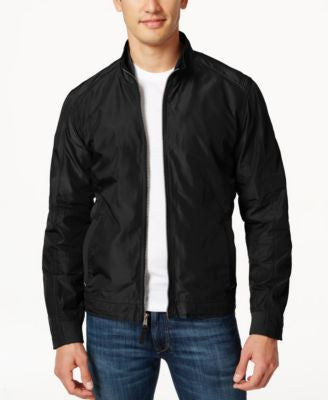 Cole Haan Full-Zip Mock-Collar Lightweight Jacket