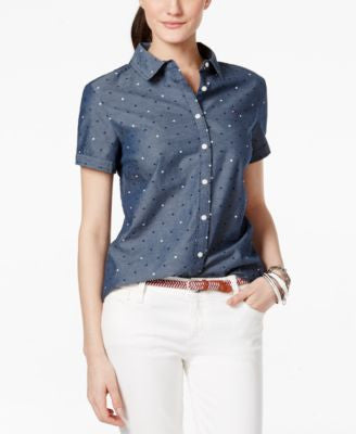 Tommy Hilfiger Polka-Dot Short-Sleeve Shirt