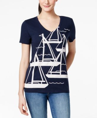 Tommy Hilfiger Sailboat Graphic-Print Tee
