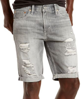 Levi's® Men's 511 Slim-Fit Goodlands Grey Cutoff Ripped Jean Shorts
