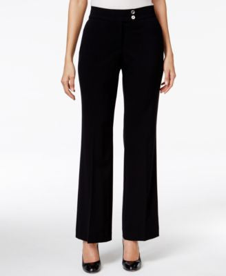JM Collection Extend-Tab Straight-Leg Pants, Only at Vogily