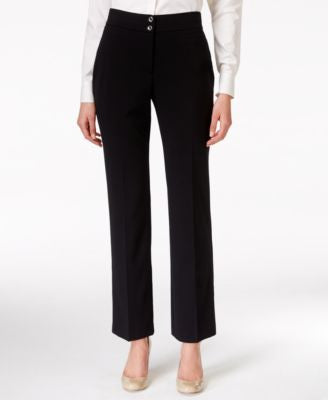 JM Collection Double-Button Straight-Leg Pants, Only at Vogily