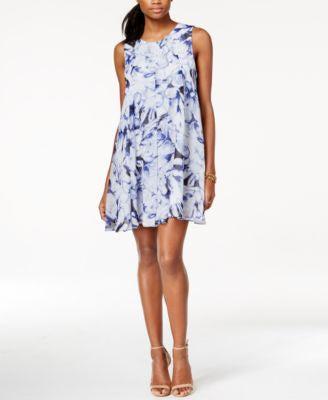 BCBGeneration Sleeveless Floral-Print Shift Dress
