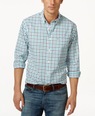 Tommy Hilfiger Men's Baldwin Tattersall Plaid Long-Sleeve Shirt