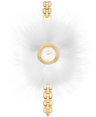 Fendi Timepieces Women's Swiss My Way Gold-Tone Stainless Steel Bracelet Watch with Glamy 36mm F3514