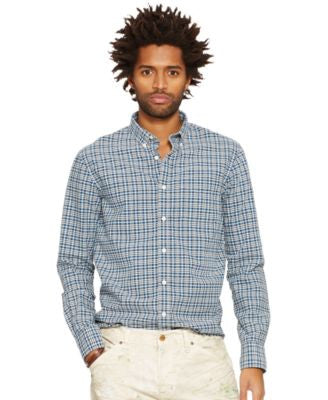 Denim & Supply Ralph Lauren Men's Plaid Cotton Oxford Shirt