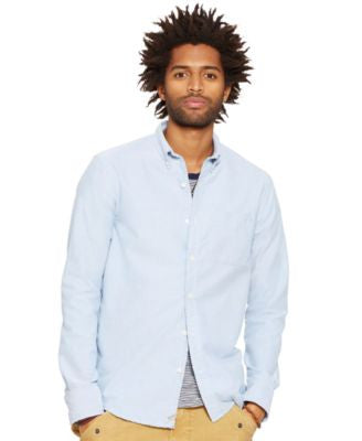 Denim & Supply Ralph Lauren Men's Distressed Oxford Sport Shirt