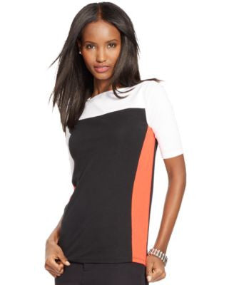 Lauren Ralph Lauren Colorblocked Cotton Tee