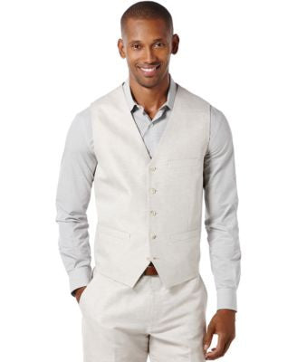 Perry Ellis Linen Solid Vest