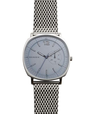 Skagen Men's Stainless Steel Mesh Bracelet Watch 40x45mm SKW6255