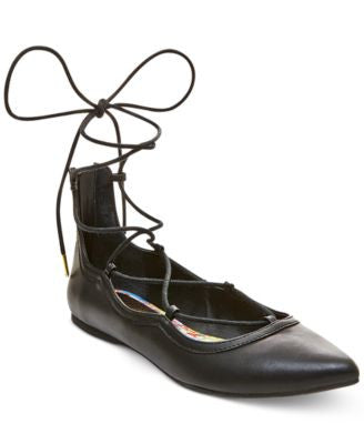 Madden Girl Edgyyy Tie Up Flats