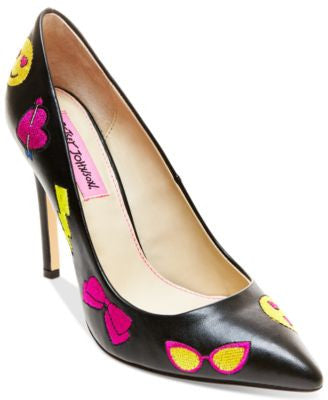 Betsey Johnson Papii Emoji Pumps