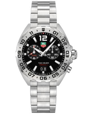 TAG Heuer Men's Swiss Chronograph Formula 1 Stainless Steel Bracelet Watch 41mm WAZ111A.BA0875