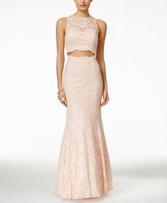 Xscape Embellished Lace 2-Pc. Mermaid Gown