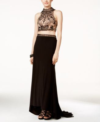 Xscape Embellished Two-Piece Gown
