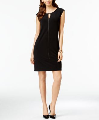 Alfani Satin-Trim Cap-Sleeve Dress, Only at Vogily