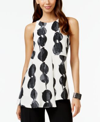 Alfani PRIMA Printed Double-Layer Top, Only at Vogily