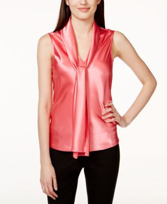 Nine West Sleeveless Tie-Neck Blouse