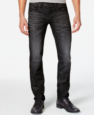 BOSS HUGO BOSS Men's 708 Slim-Fit Black Wash Jeans