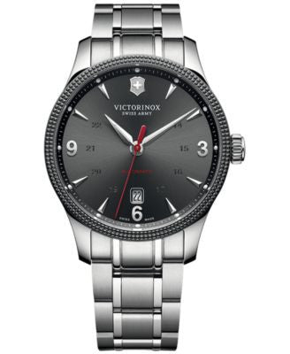 Victorinox Swiss Army Men's Swiss Automatic Alliance Stainless Steel Bracelet Watch 40mm 241714