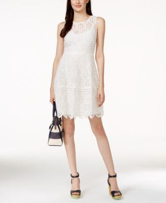 Tommy Hilfiger Sleeveless Eyelet Lace Dress