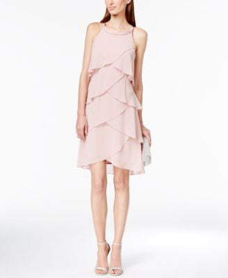 Style & Co. Tiered Tulip Chiffon Dress, Only st Vogily