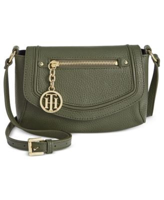Tommy Hilfiger Jerry Pebble Leather Crossbody