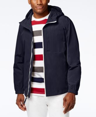 Kenneth Cole New York Men's Hooded Lightweight Jacket