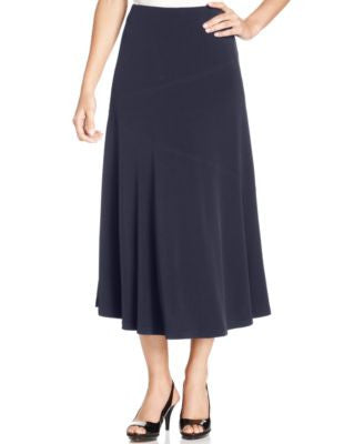 JM Collection Petite Seamed A-Line Skirt
