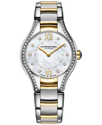 RAYMOND WEIL Women's Swiss Noemia Diamond Accent Two-Tone PVD Stainless Steel Bracelet Watch 24mm 51