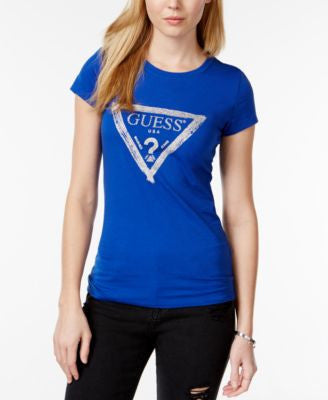 GUESS Brushed Glitter Graphic T-Shirt