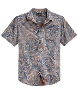 Retrofit Men's Palm Print Short-Sleeve Shirt