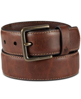 Nautica Men's Feather-Edge Milled Belt