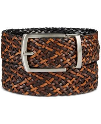 Tasso Elba Men's Reversible Braid Belt, Only at Vogily