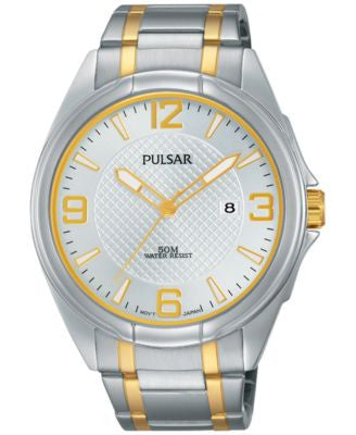 Pulsar Men's Easy Style Two-Tone Stainless Steel Bracelet Watch 42mm PH9097